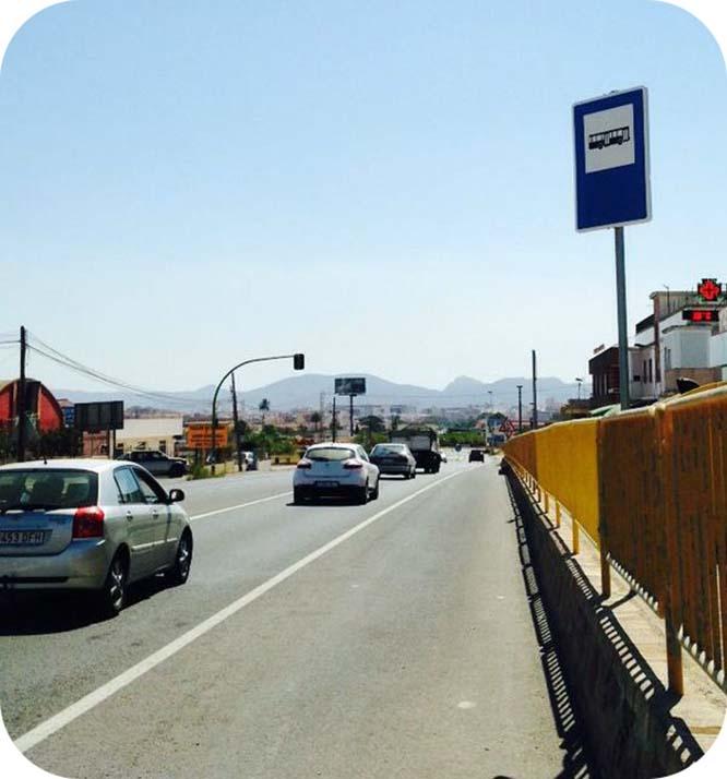 Reclaman más seguridad para las paradas de autobús de Cartagena
