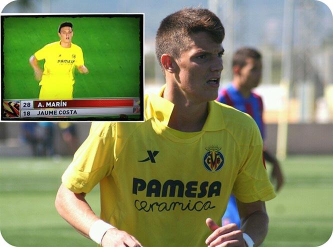 El futbolista pachequero, Adrián Marín, debuta con tan sólo 17 años en la Europa League